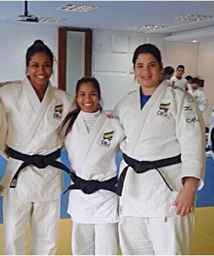 Mariana, Larissa e Camila Trio do Judô MS que irá disputar o Campeonato Mundial Sub 21 em Miami.