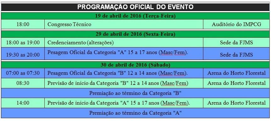 Cronograma JECS